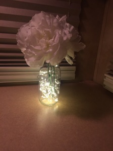 LED lights in glass container